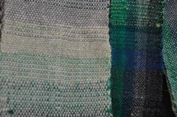 Woven shades of blue and green