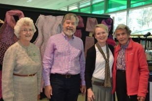 Guild President Janet Allsworth. Ron Norris, Mayor of Mosman Park, Shire President Rachel Thomas and Ruth Reid Guild Patron (A.M.)